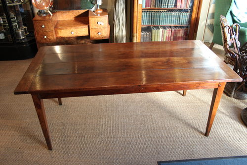 French Cherrywood Farm Table / Kitchen Table