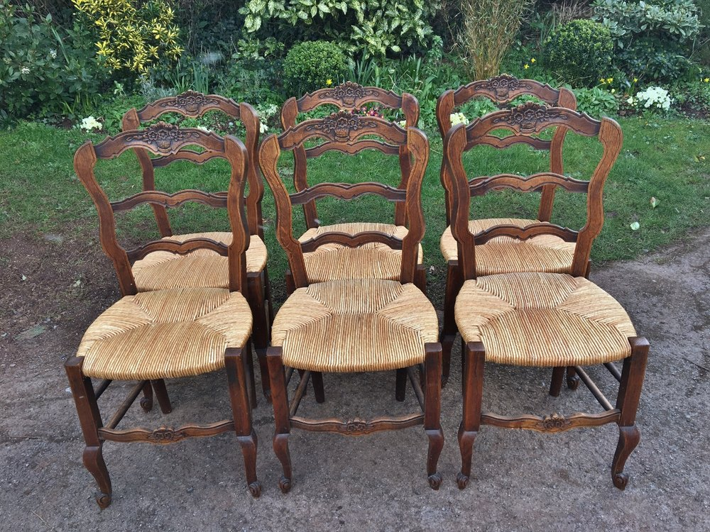 Set Of 6 French Kitchen Chairs C 1930 Antiques Atlas