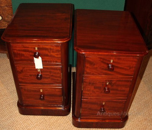 Victorian Mahogany Bedside Cabinets