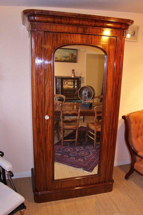 Victorian Mahogany Single Door Wardrobe Antiques Atlas