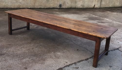 Very Large Pine Topped Farmhouse Table Antique Tables
