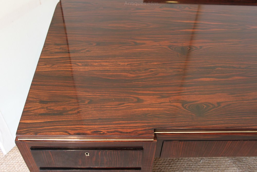 Photos Art Deco Macassar Ebony Desk