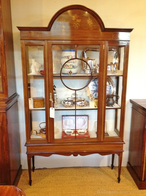 antique cabinets kitchen display cabinet inlaid mahogany antiques atlas 1258