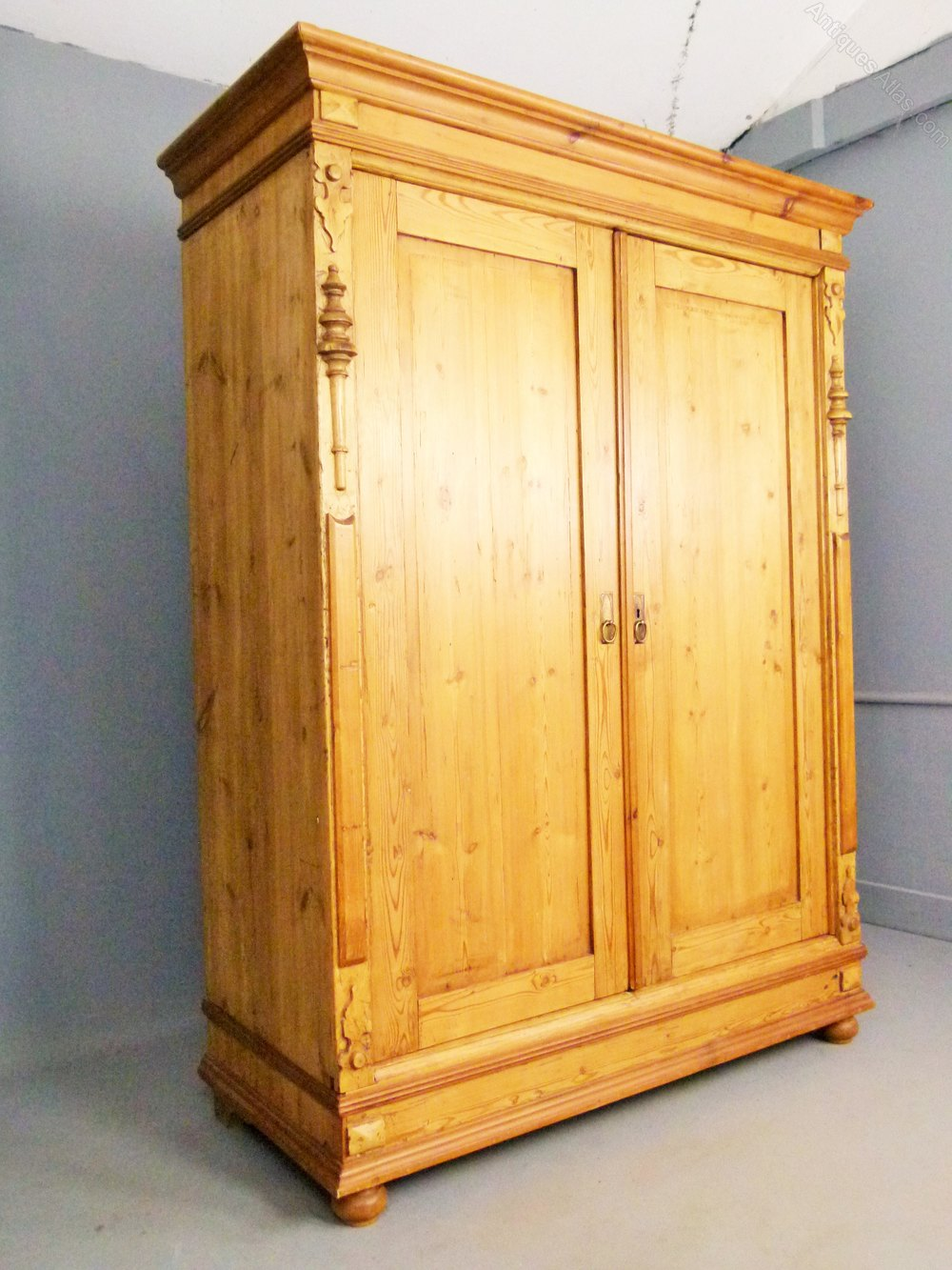Beau Charming Antique Pine French Armoire ...