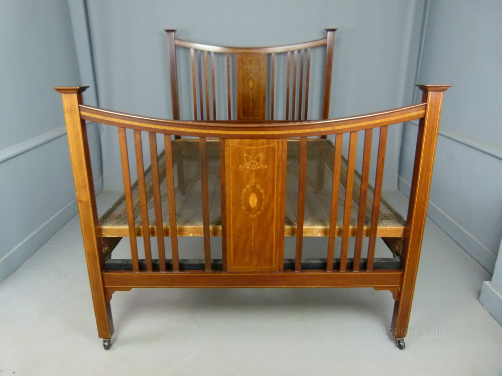 Edwardian Mahogany Double Bed Amp Spring Base Antiques Atlas
