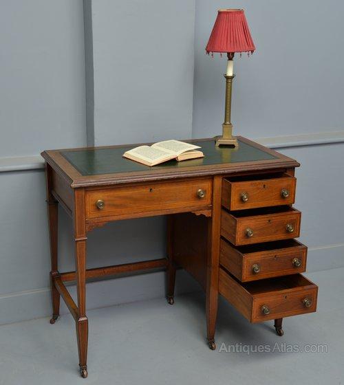 - Elegant Edwardian Ladies Mahogany Writing Desk - Antiques Atlas