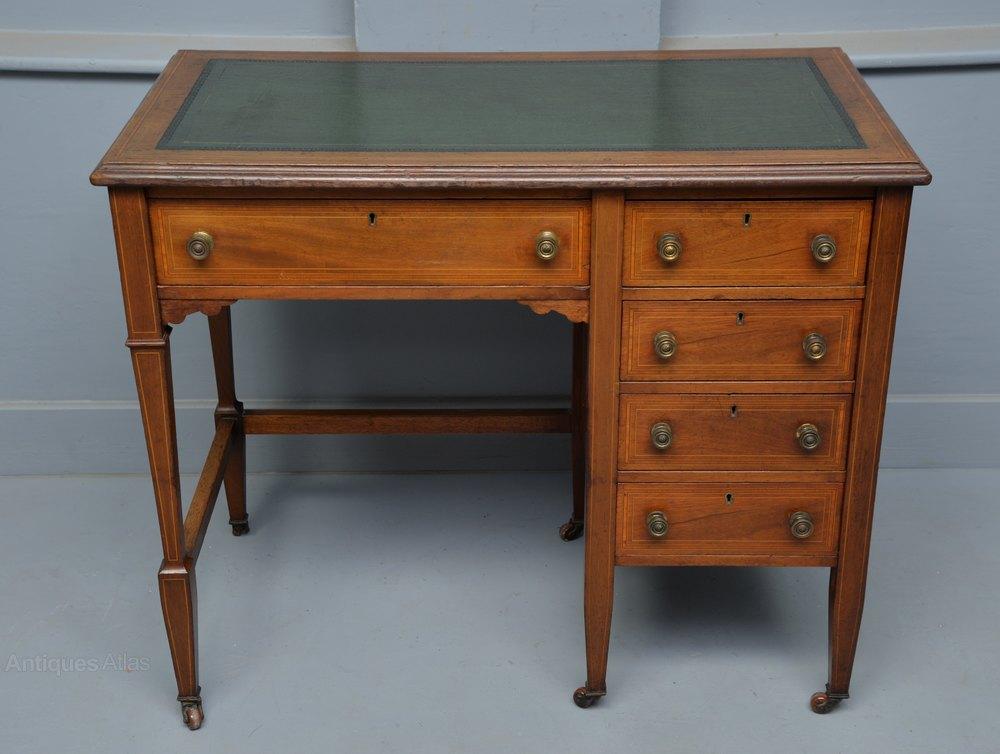 Elegant Edwardian La s Mahogany Writing Desk Antiques