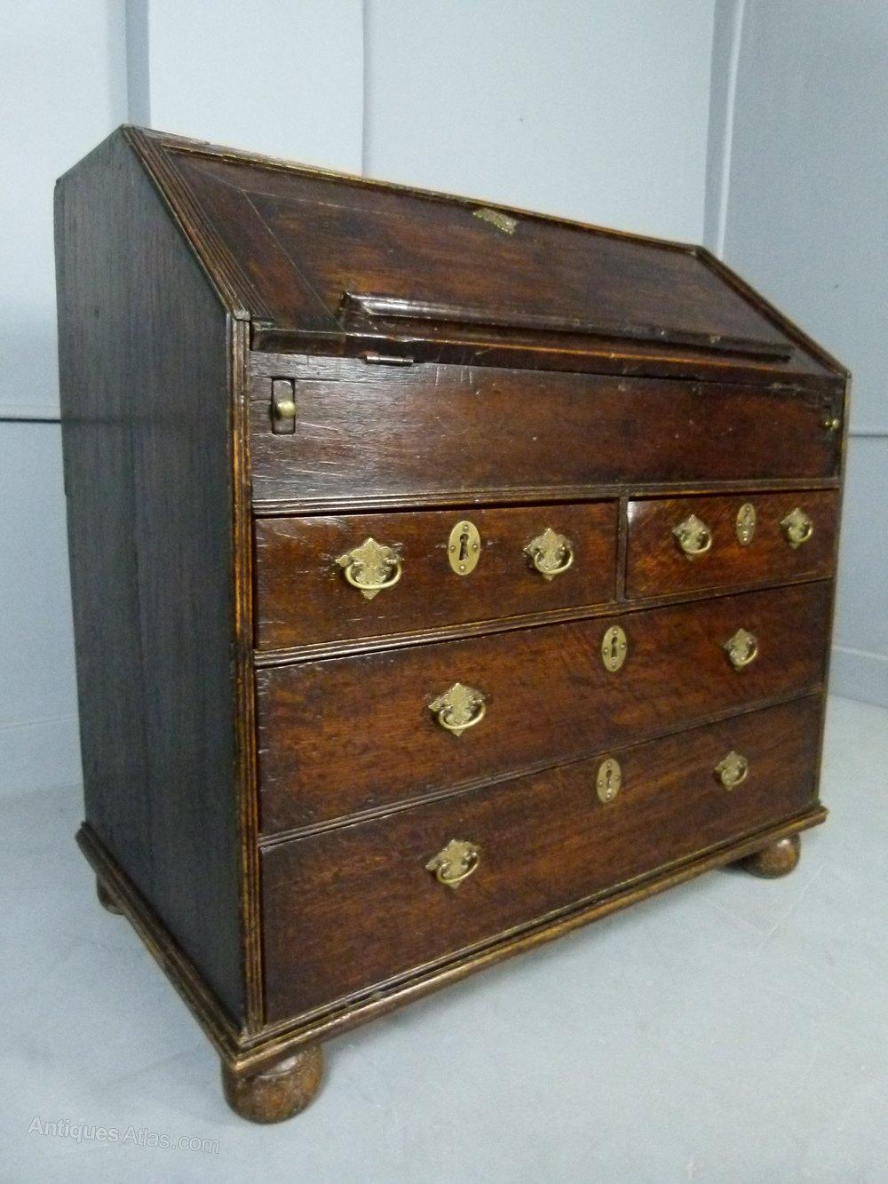 Queen Anne Oak Bureau Antiques Atlas