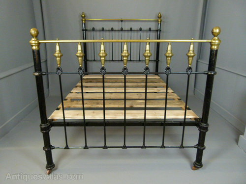 Antique Bed Victorian Brass And Iron. Antiques Beds & Bedroom Sets