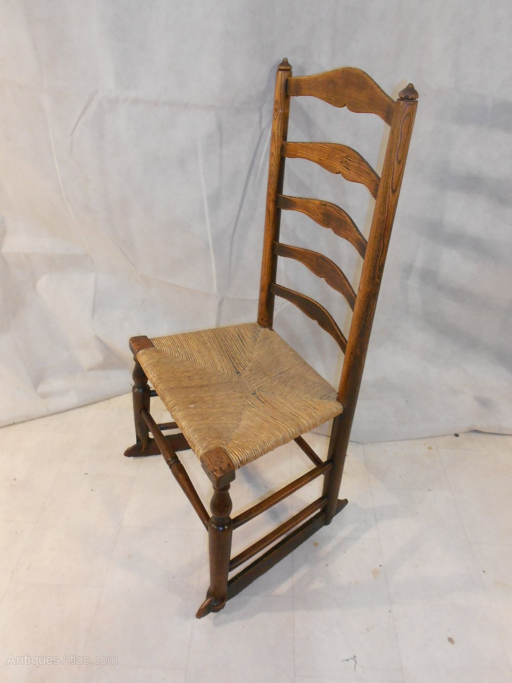 Antique Georgian Ash Lancashire Rocking Chair Antiques Atlas