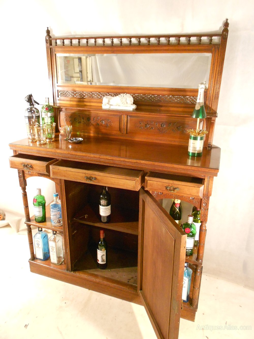 ... Antique Cocktail / Drinks Cabinets ... - Antique Victorian Drinks Cabinet C1880-1900 - Antiques Atlas