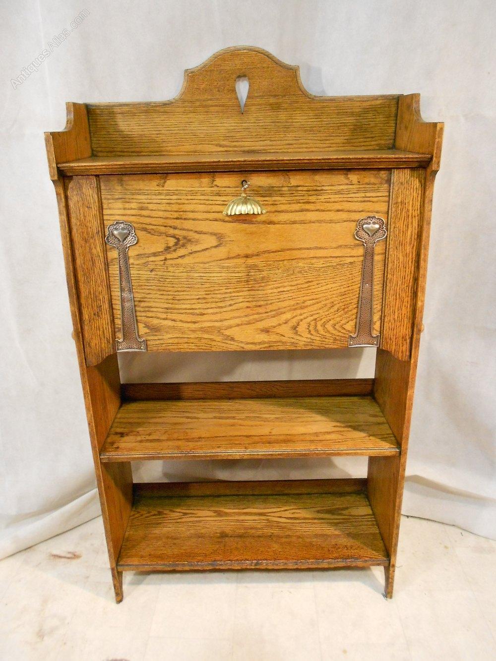 Arts and crafts bureau -  Bureau With Hearts Antique Bureaus Antique Arts And Crafts