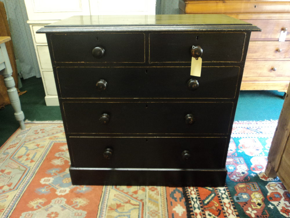 Painted Pine Chest Of Drawers Antiques Atlas