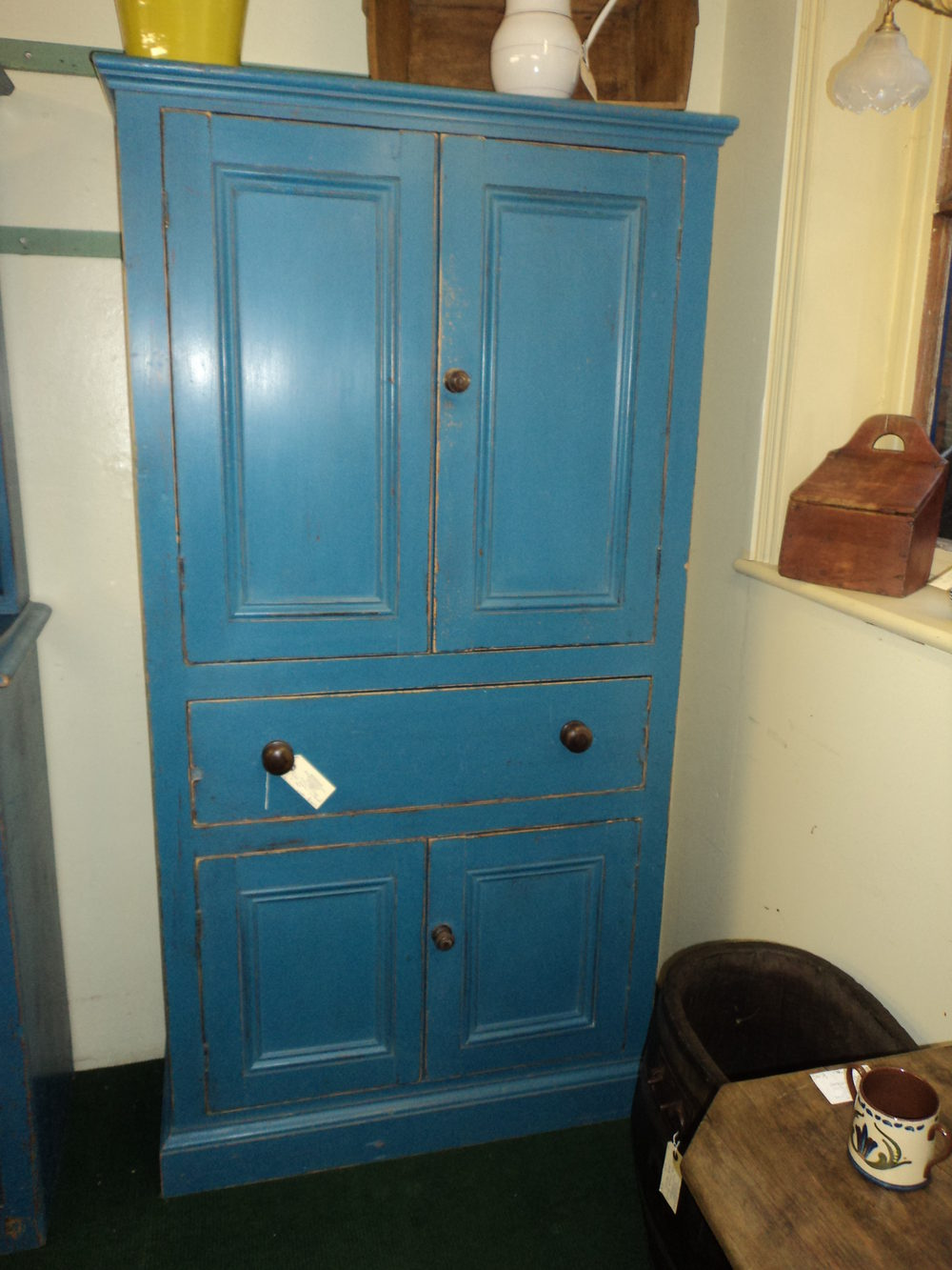 Painted Pine Cupboard Antique Cupboards - Painted Pine Cupboard - Antiques Atlas
