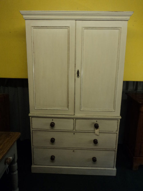 Pine Linen Cupboard Antique Cupboards - Pine Linen Cupboard - Antiques Atlas