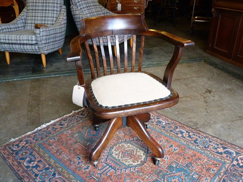 1920's Vintage Oak Desk Chair. - 1920's Vintage Oak Desk Chair. - Antiques Atlas