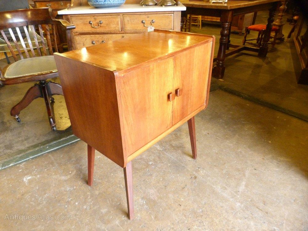 1960s Teak Vinyl Record Cabinet