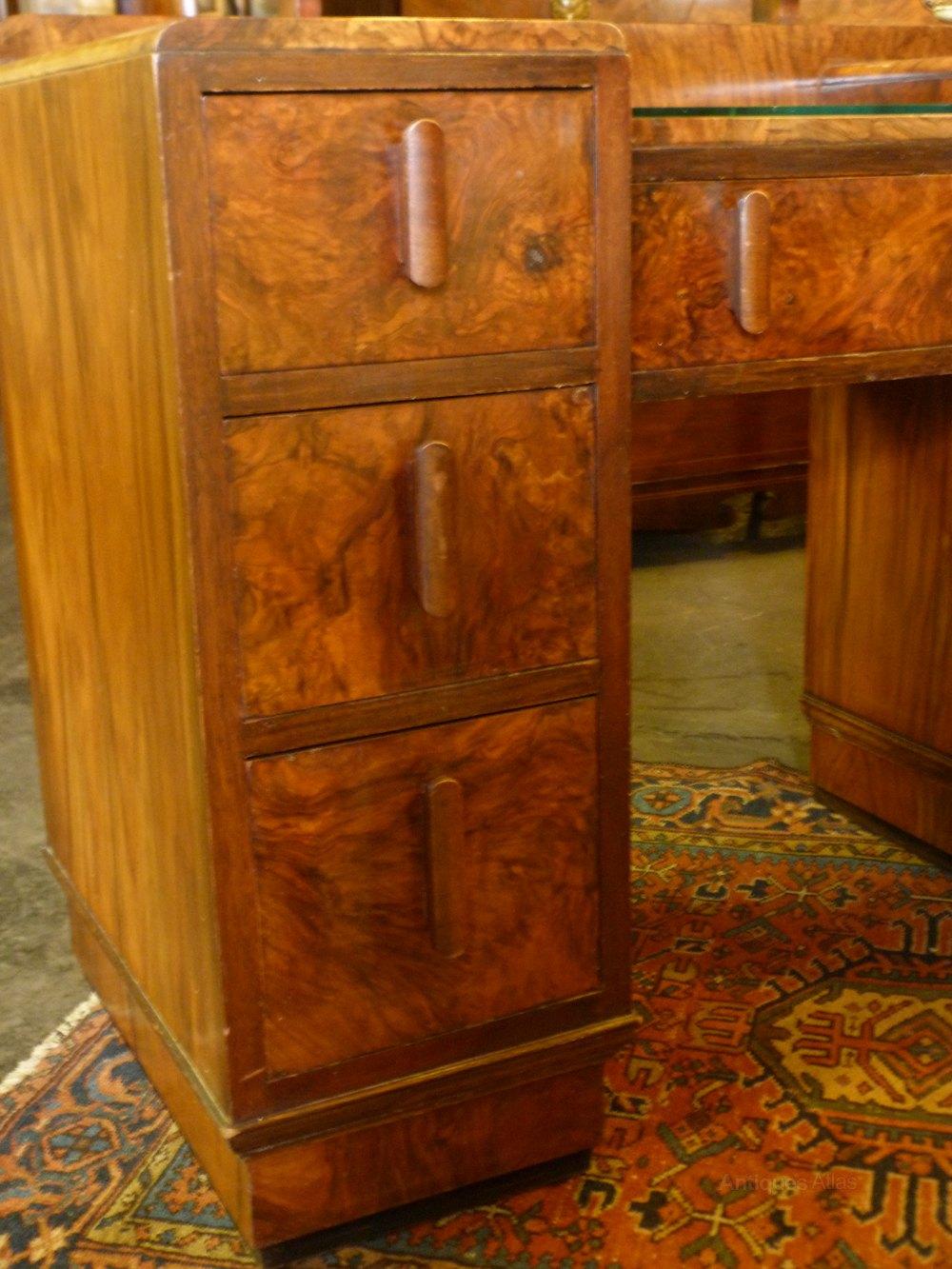 art deco walnut dressing table antiques atlas. Black Bedroom Furniture Sets. Home Design Ideas