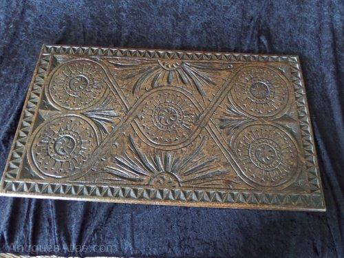 17THC oak carved panel c1660