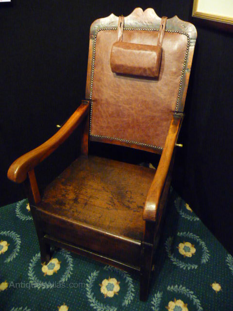 18c  Fruitwood Reading Reclining Chair