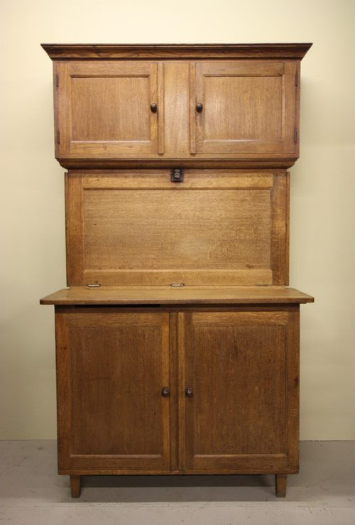 Antique English Quicksey Oak Kitchenette Kitchen Cupboards