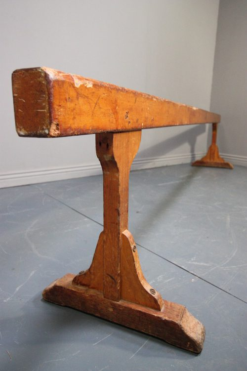 1920's Pine Gymnasts Low Balance Beam