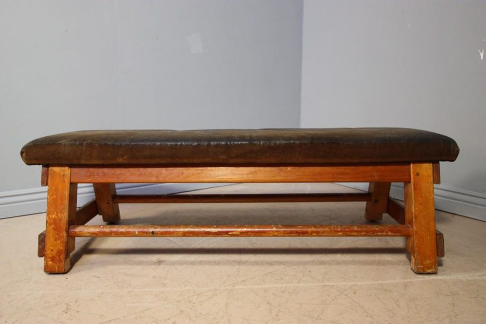 1940s Leather Gym Horse Coffee Table