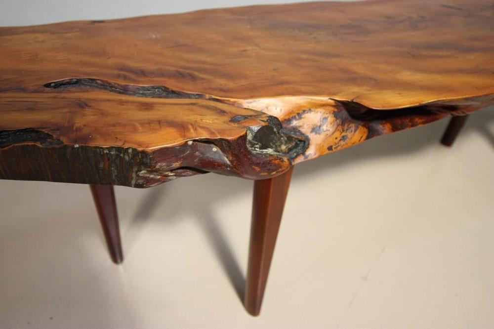 Photos. 1950s Yew Wood Coffee Table ...