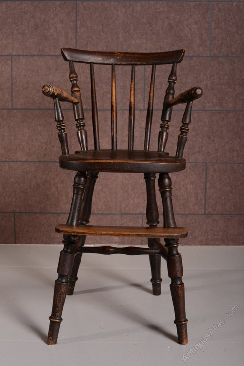 19th Century American Antique Childs High Chair. - 19th Century American Antique Child's High Chair. - Antiques Atlas