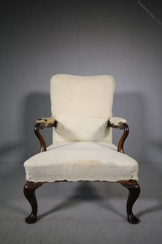 19th Century Antique Armchair By J T Scott Edinburgh
