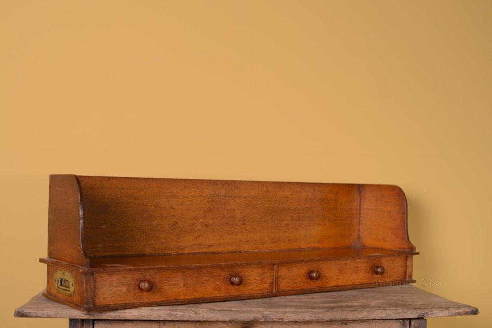 19th Century Antique Oak Book Tray / Desk Tidy. - Antiques Atlas - 19th Century Antique Oak Book Tray / Desk Tidy.