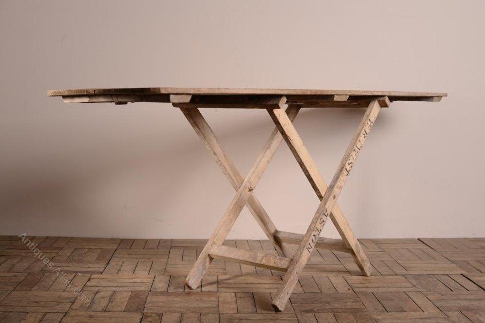 Beau 19th Century Antique Painted Pine Decorators Table ...