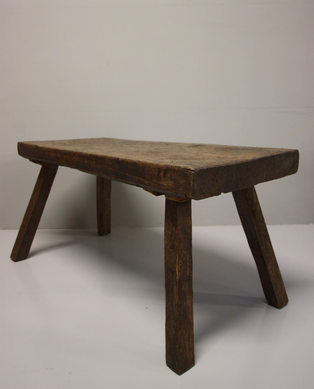 19th century antique pig bench coffee table