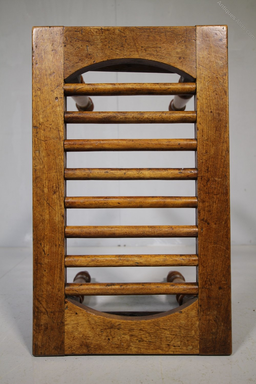 19th Century Satin Birch Antique Luggage Stand Antiques