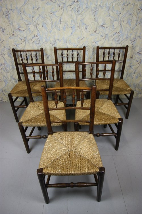 A True Set Of Six Antique Yorkshire Dales Dining Chairs