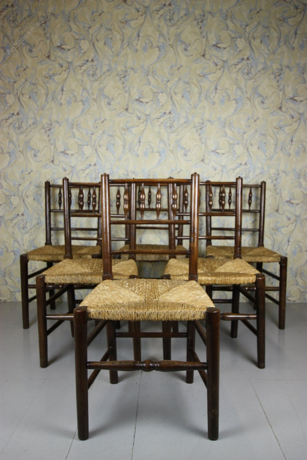 Photos A True Set Of Six Antique Yorkshire Dales Dining