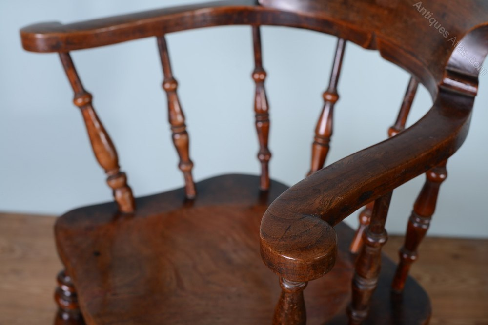 Photos. Antique Elm Captains Chair ... - Antique Elm Captains Chair By Alsop. - Antiques Atlas