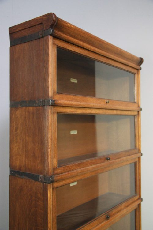 Antique Globe Wernicke Oak Stacking Bookcase Antiques Atlas