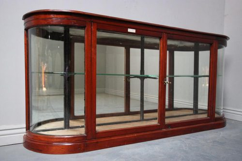 Antique Mahogany Shop Fitting Display Cabinet - Antique Mahogany Shop Fitting Display Cabinet - Antiques Atlas