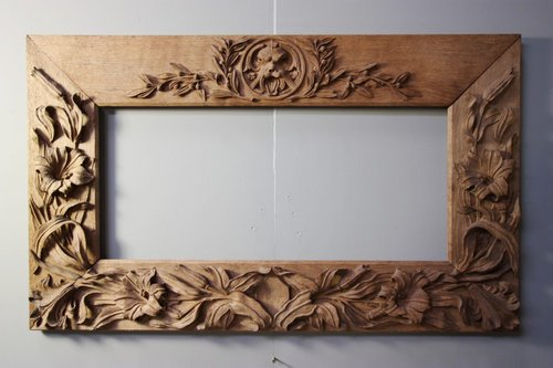 Antiques Atlas Antique Oak Carved Mirror Painting Frame