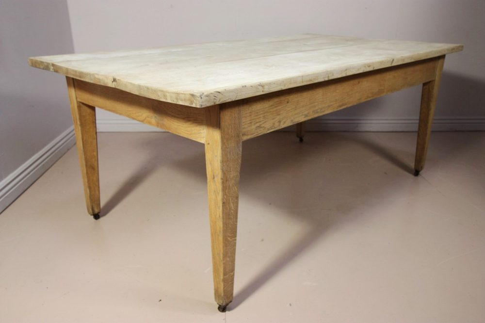 Antique Oak & Sycamore Dining Table - Antiques Atlas