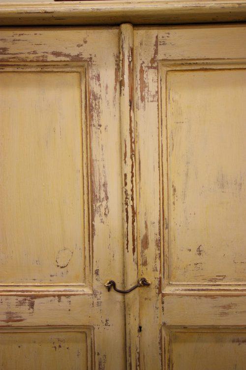 Antique Painted Pine Two Door Cupboard Antiques Atlas
