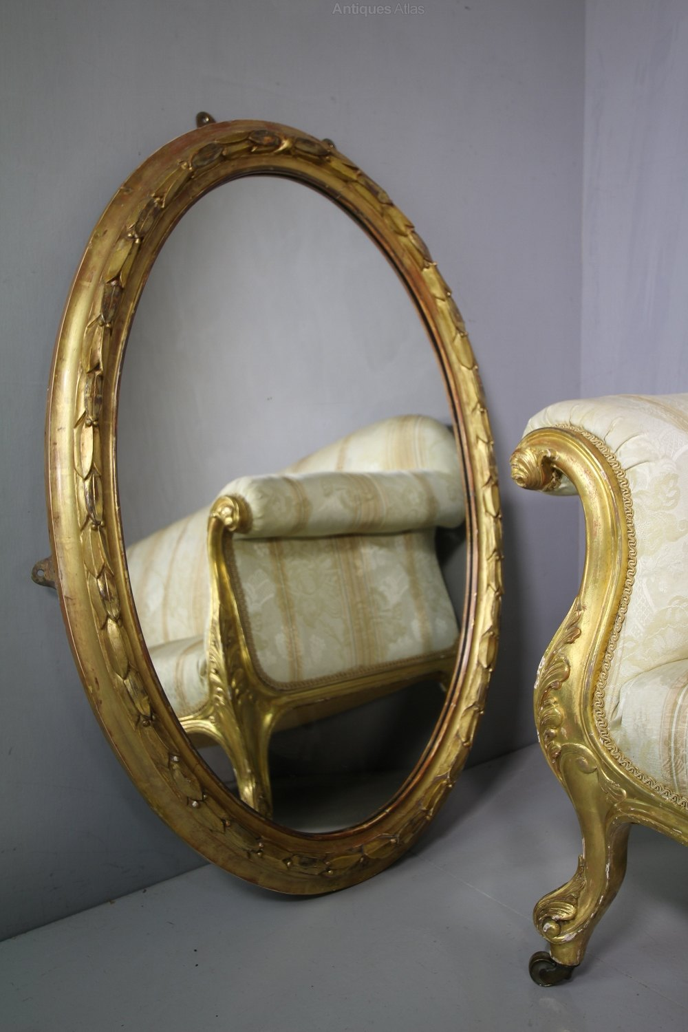 Antiques Atlas Beautiful 19th Century Antique Gilt Oval