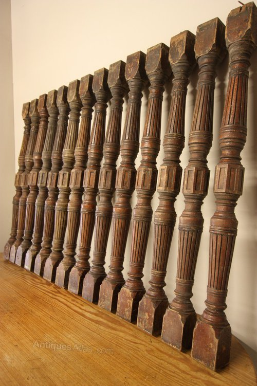Captivating Collection Of English Antique Staircase Spindles ...