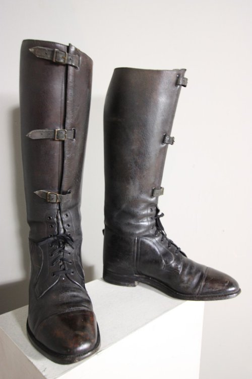 Edwardian Antique Leather Riding Boots