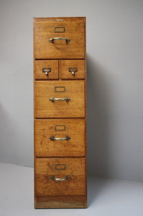 Antique Filing Cabinets ... - Edwardian Antique Oak Filing Cabinet. - Antiques Atlas