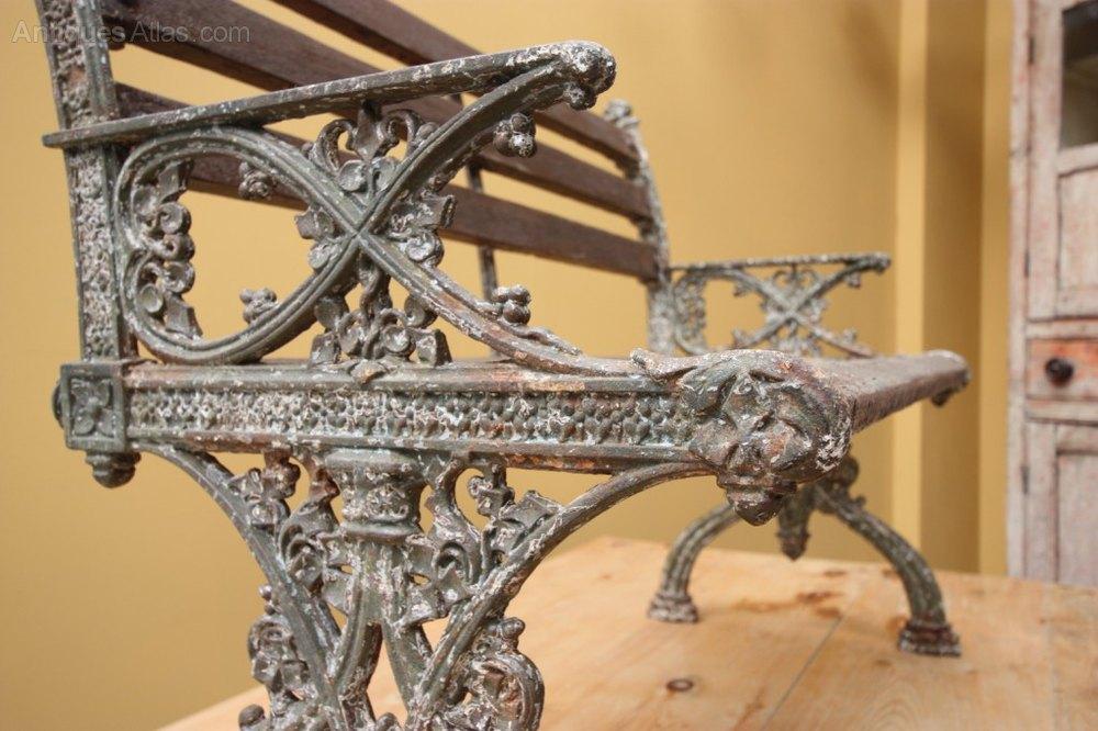 English Antique Cast Iron Garden Bench Antique Garden Benches %%alt5%% ...
