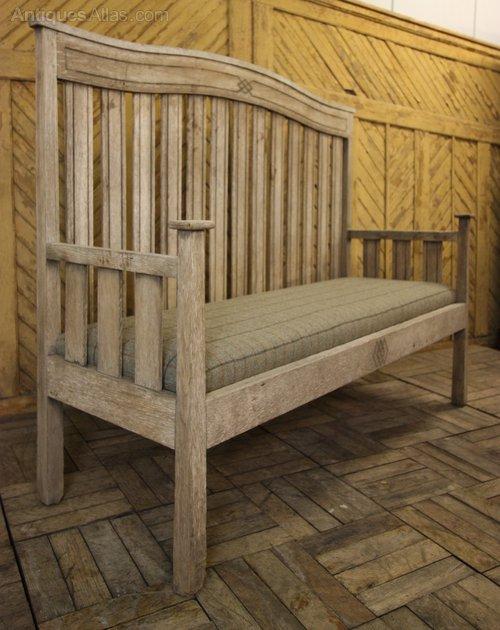 English Antique Oak Garden Seat Bench By Goodyer Antiques