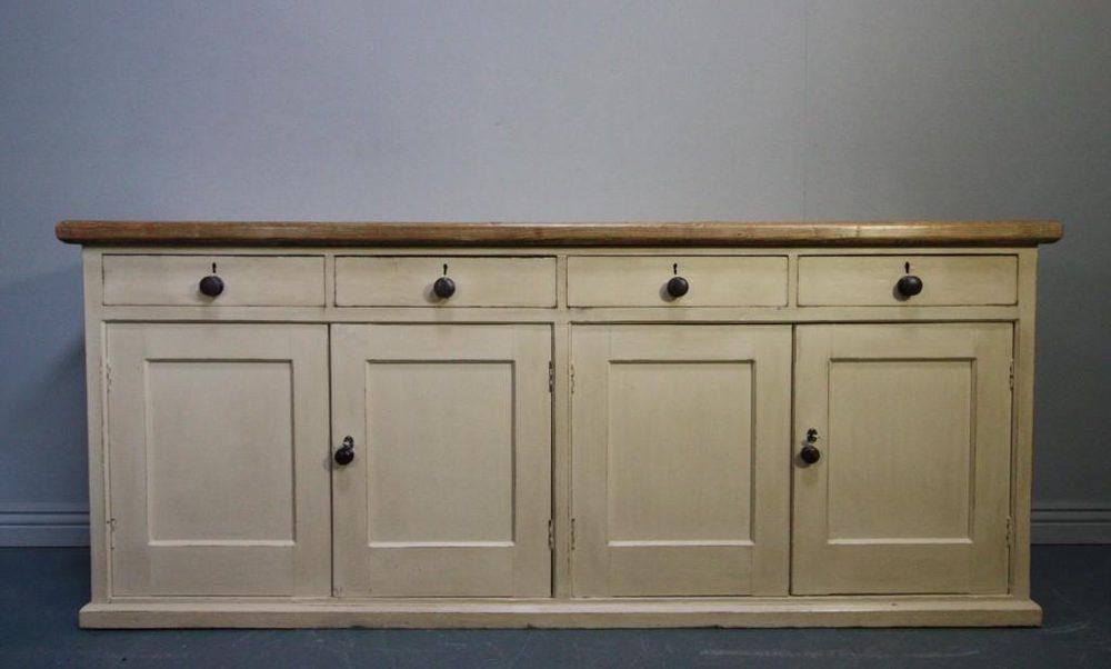 English Antique Pine Kitchen Dresser Base