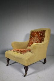 ... ArmchairHeirlooms By Lawrence English Antique Upholstered Ca